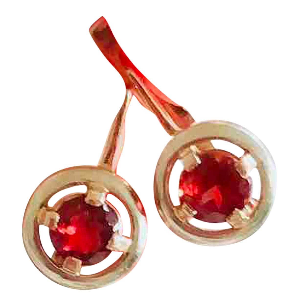 - Boucles doreilles   pour femme en or rose - marron