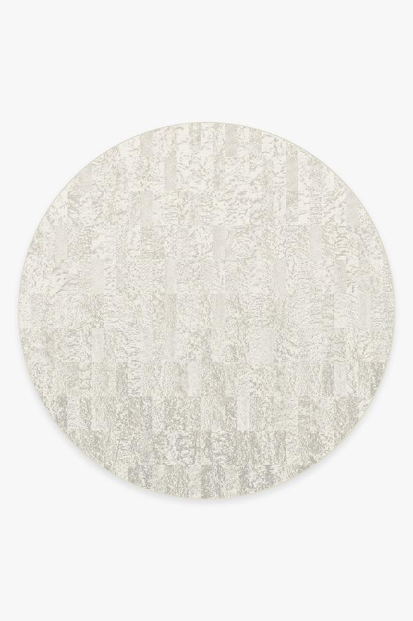 Washable Rug Cover & Pad   Granite Ombre Light Grey Rug   Stain-Resistant   Ruggable   8' Round