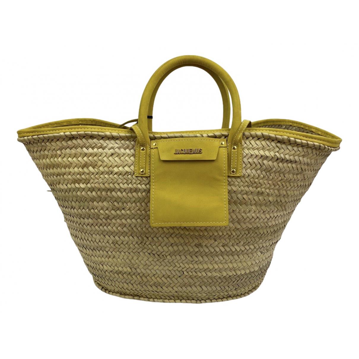 Jacquemus Le Grand Panier Beige Wicker handbag for Women N