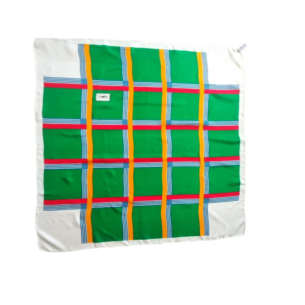 Yves Saint Laurent \N Green Silk scarf for Women \N