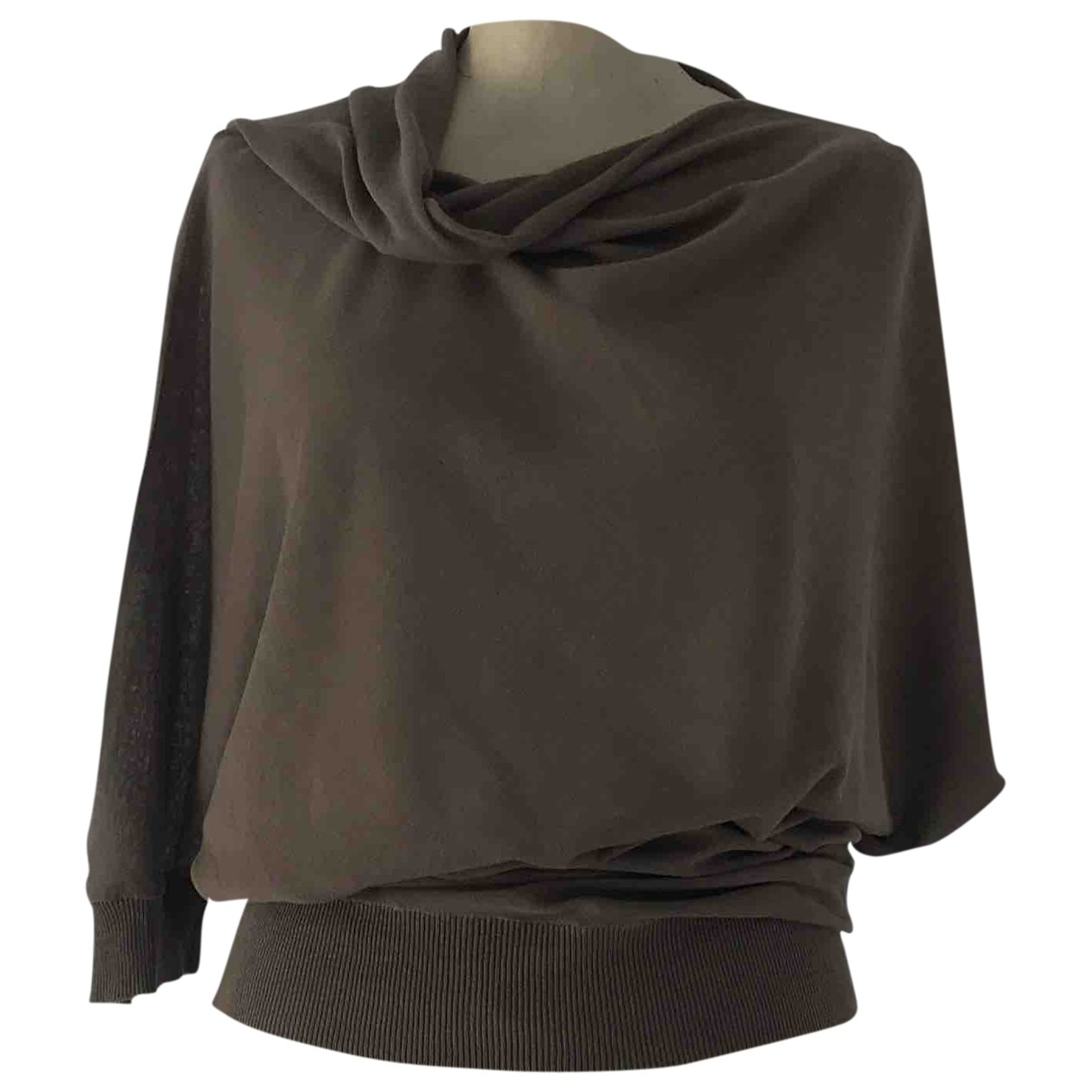 Non Signé / Unsigned \N Brown Cotton  top for Women S International