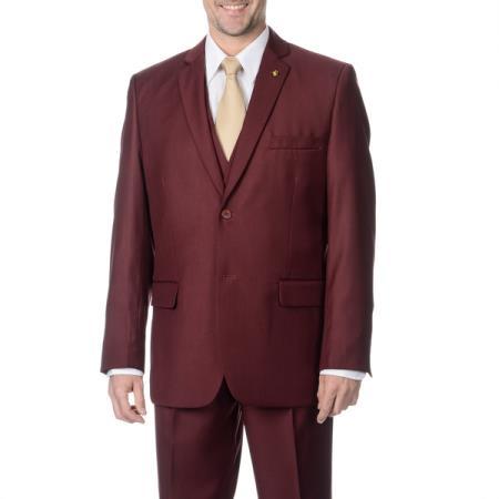Men's 3-piece 2-button Vested Suit