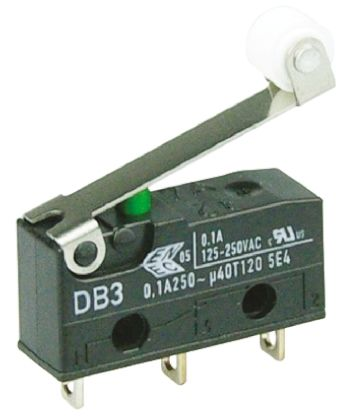 ZF SPDT-NO/NC Roller Lever Microswitch, 100 mA @ 30 V dc