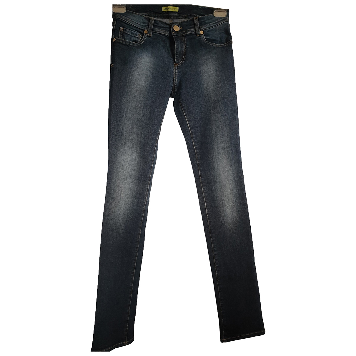 Versace Jeans \N Blue Cotton - elasthane Jeans for Women 36 FR
