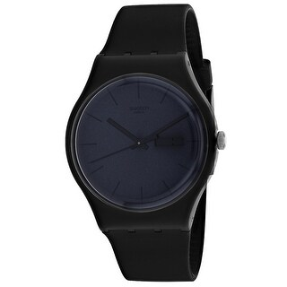 Swatch Men's New Gent Black Dial Watch - SUOB702 - One Size (Black)
