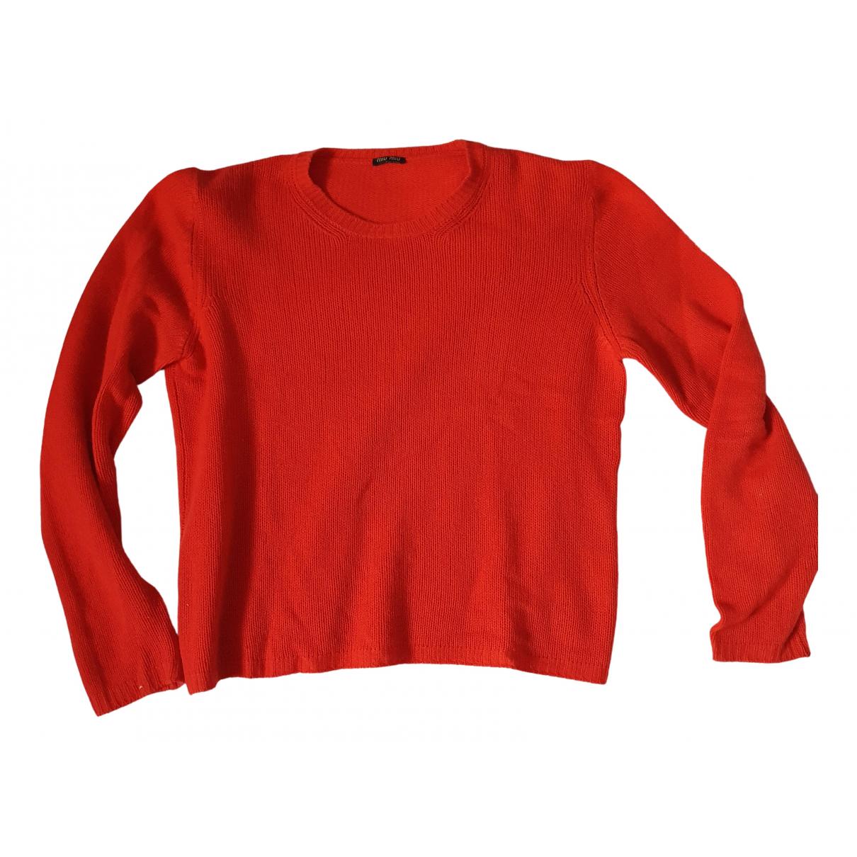 Miu Miu \N Pullover.Westen.Sweatshirts  in  Rot Kaschmir