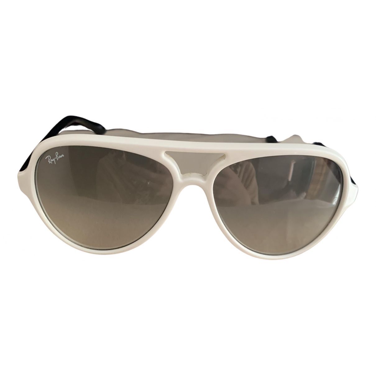 Ray-ban Aviator White Sunglasses for Women N