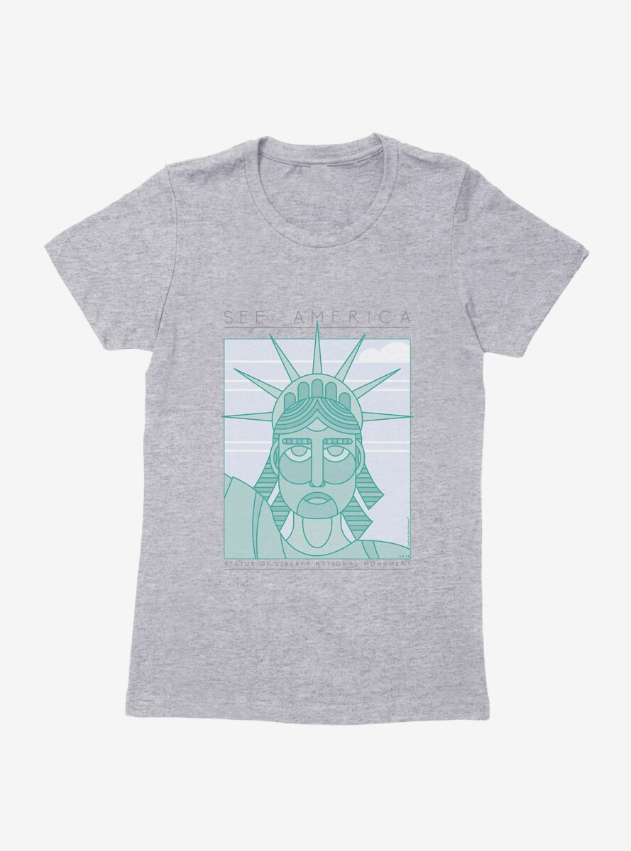 See America Statue Of Liberty Close Up Womens T-Shirt