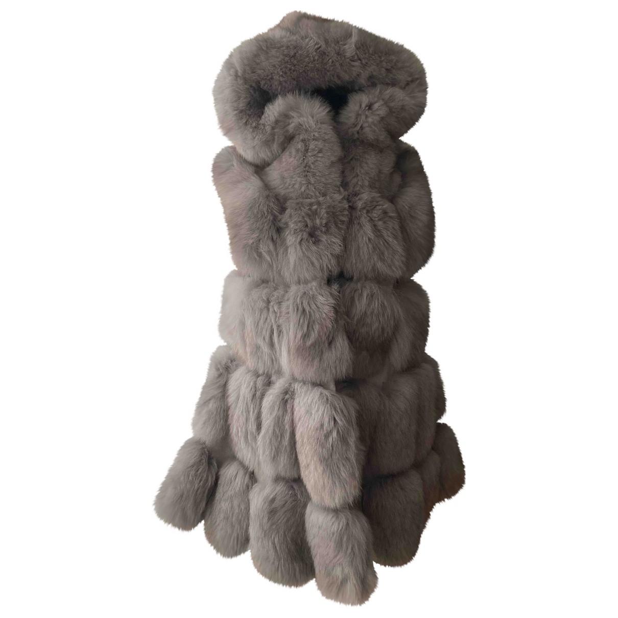 - Veste   pour femme en renard - gris