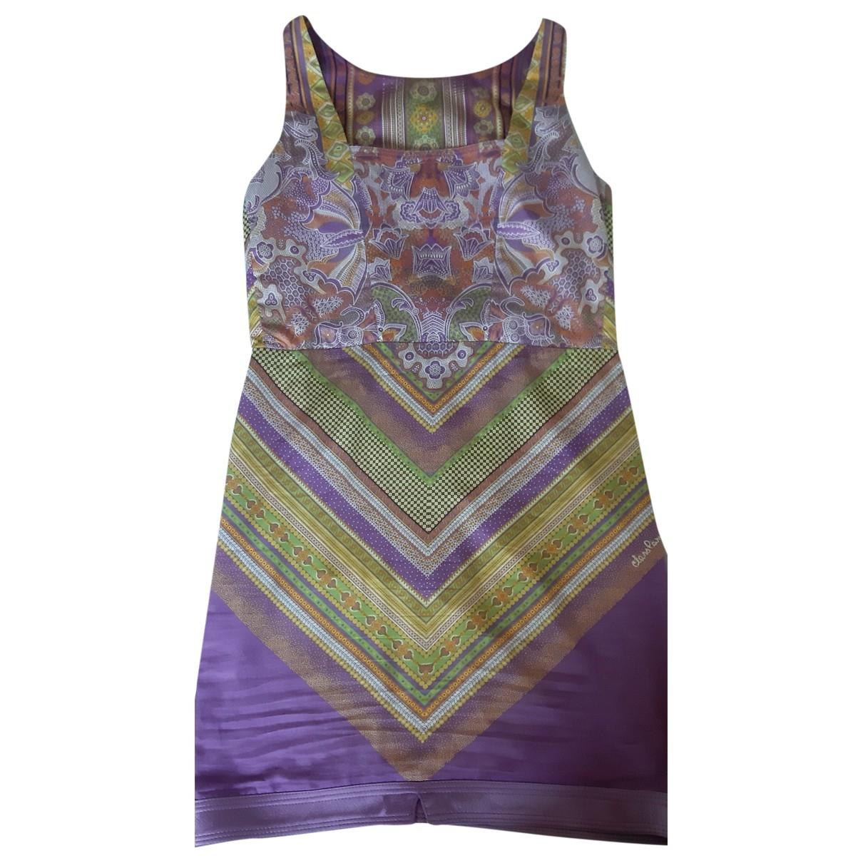 Roberto Cavalli \N Kleid in  Lila Baumwolle