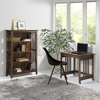 EM04CAP01U Em04Cap01U Emerson Laptop Desk With Classic Mission Style  Two Tiers Of Storage And Display Space And Solid Pine Wood Construction In