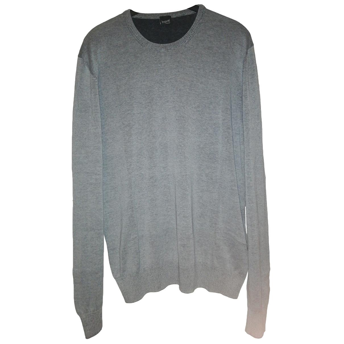 Bugatti \N Pullover.Westen.Sweatshirts  in  Grau Baumwolle