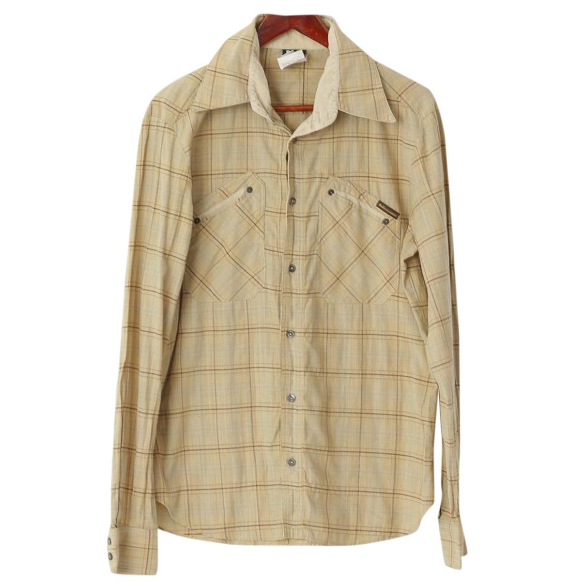 Dolce & Gabbana N Beige Cotton Shirts for Men S International
