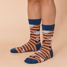 Maenner Socken mit Streifen Muster