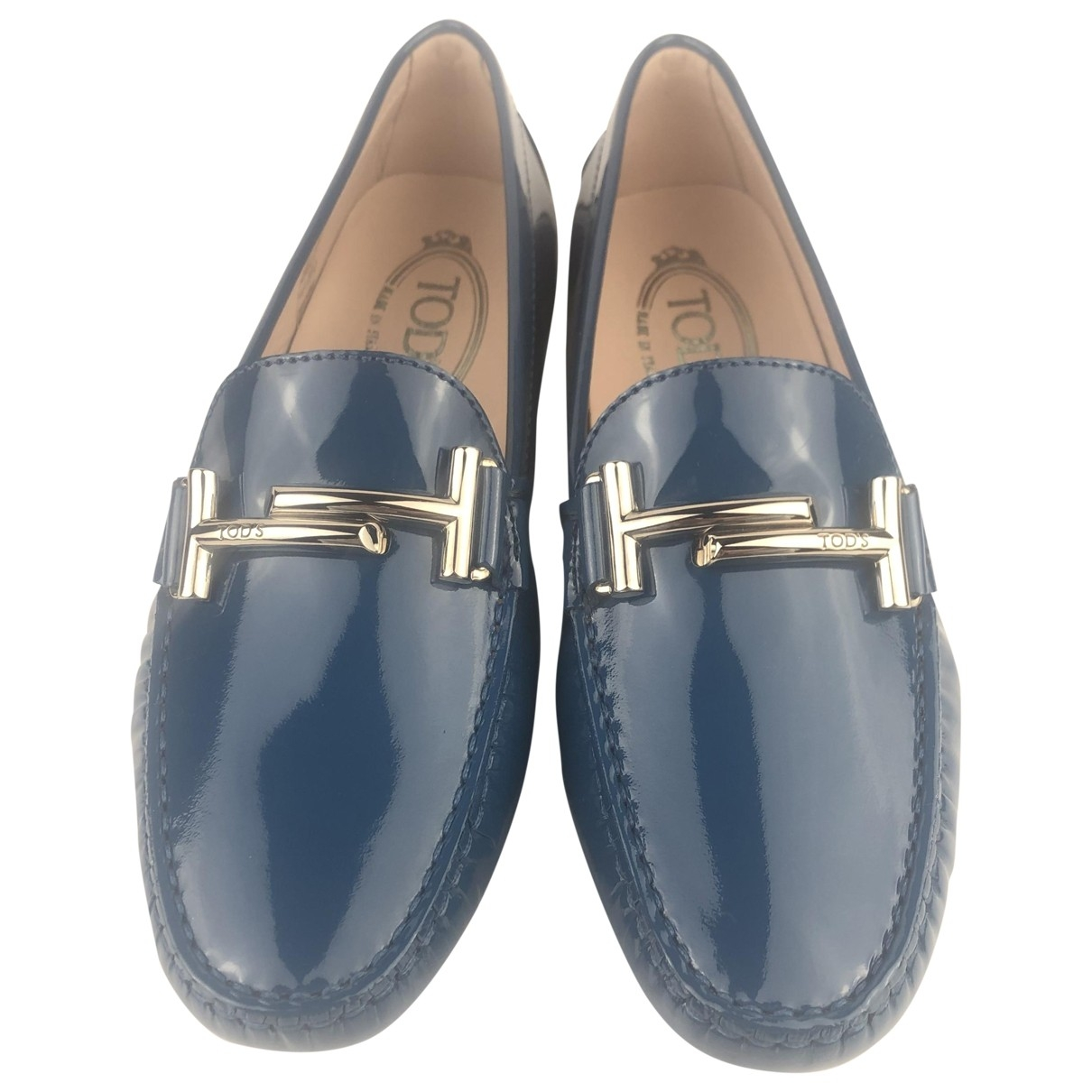 Tod's \N Blue Patent leather Flats for Women 37 EU