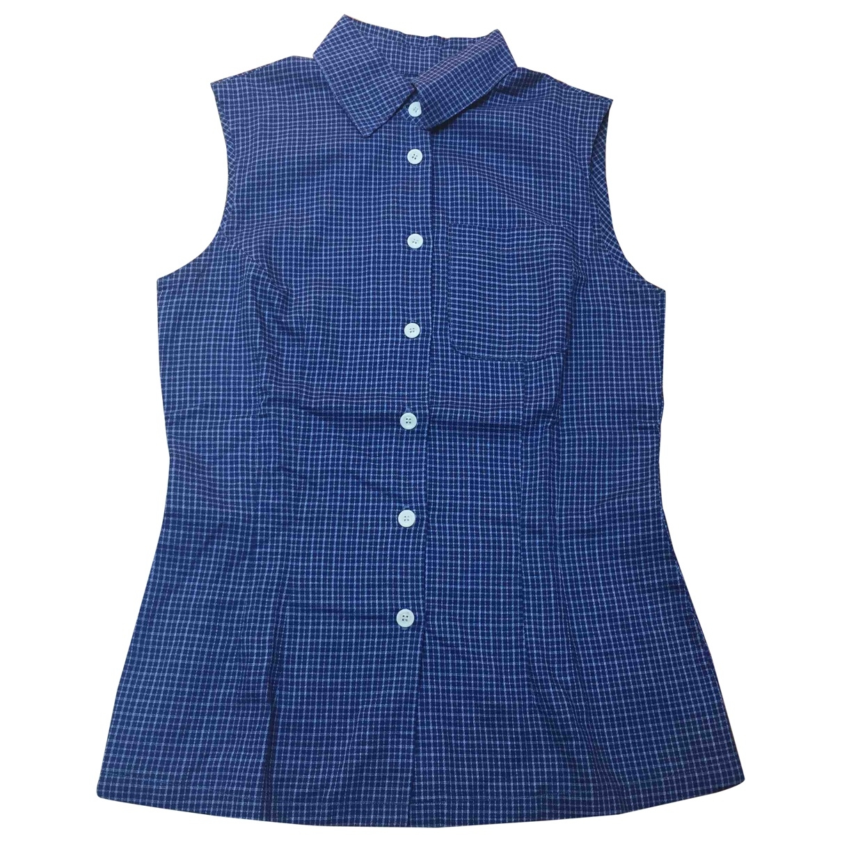 Non Signé / Unsigned \N Blue Cotton  top for Women S International