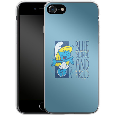 Apple iPhone 8 Silikon Handyhuelle - Blue, Blond and Proud von The Smurfs