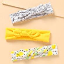 3pcs Baby Polka Dot Bow Decor Headband