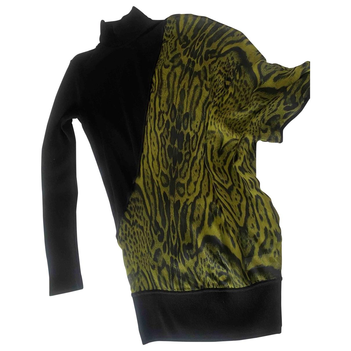 Roberto Cavalli \N Grey Silk dress for Women 40 IT
