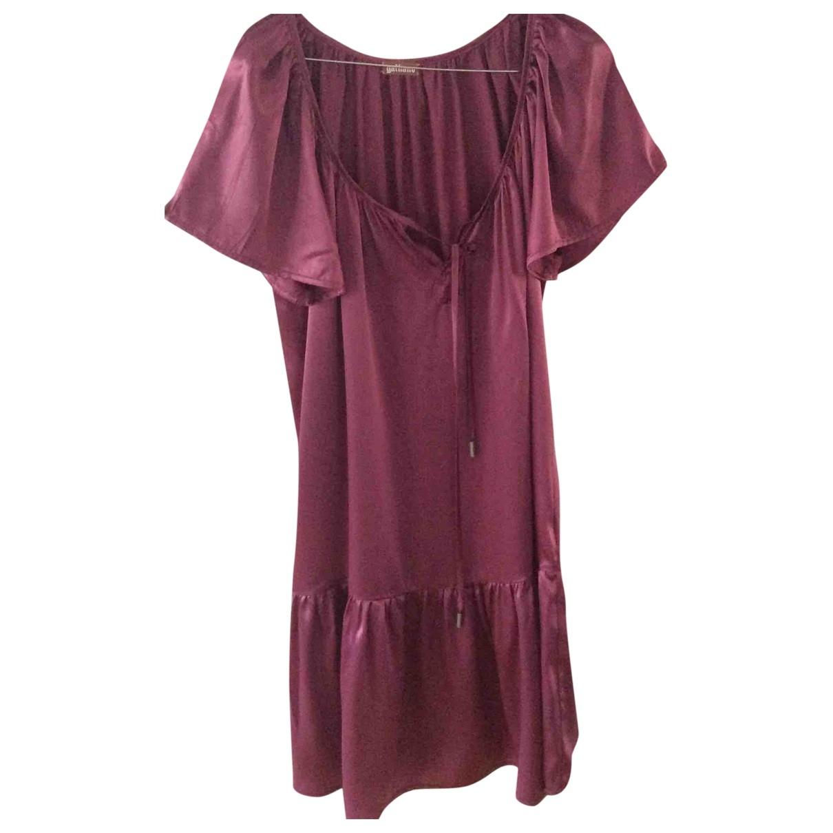 Galliano \N Kleid in  Lila Seide