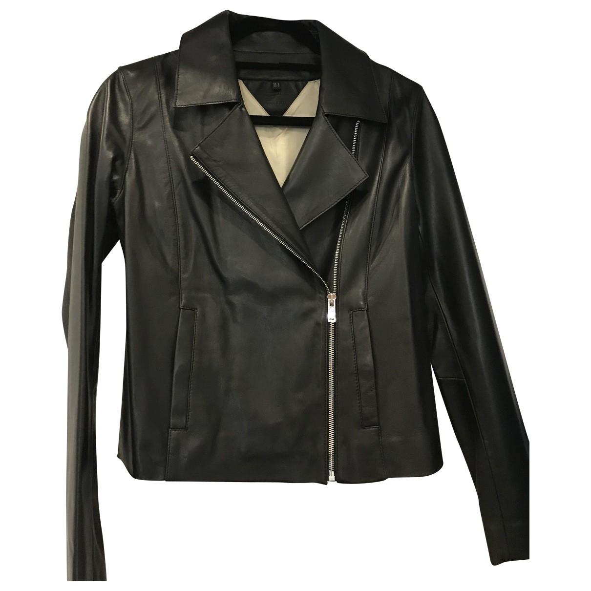 Massimo Dutti \N Black Leather jacket for Women S International