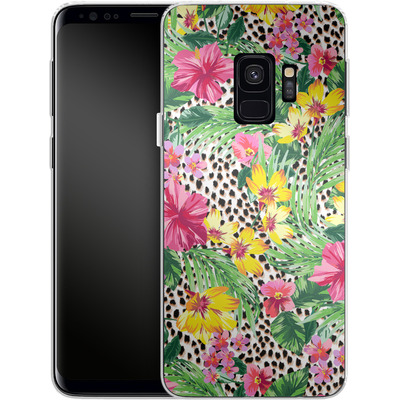 Samsung Galaxy S9 Silikon Handyhuelle - Tropical Cheetah von caseable Designs