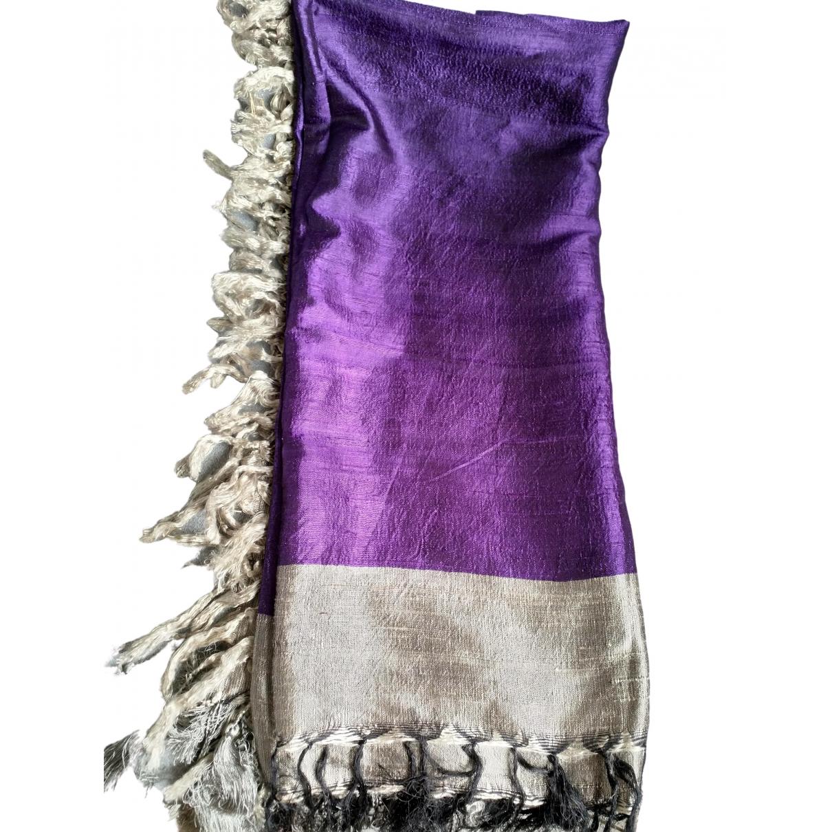 Dries Van Noten - Foulard   pour femme en soie - violet