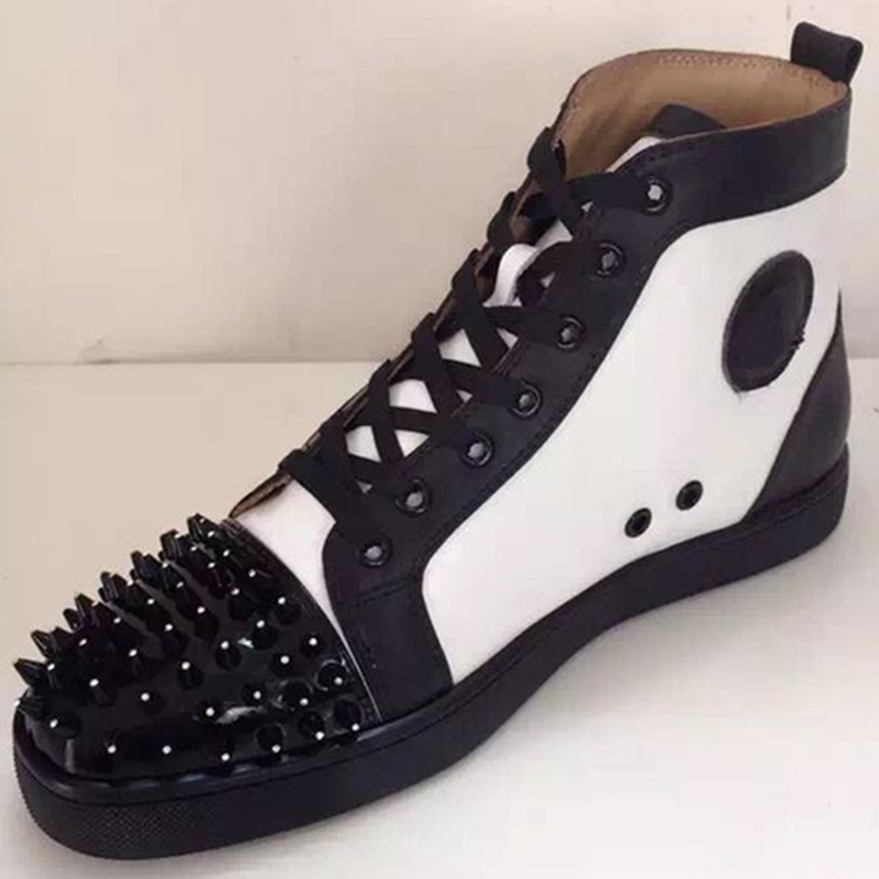 Ericdress Rivet Color Block High-Cut Men's Sneakers