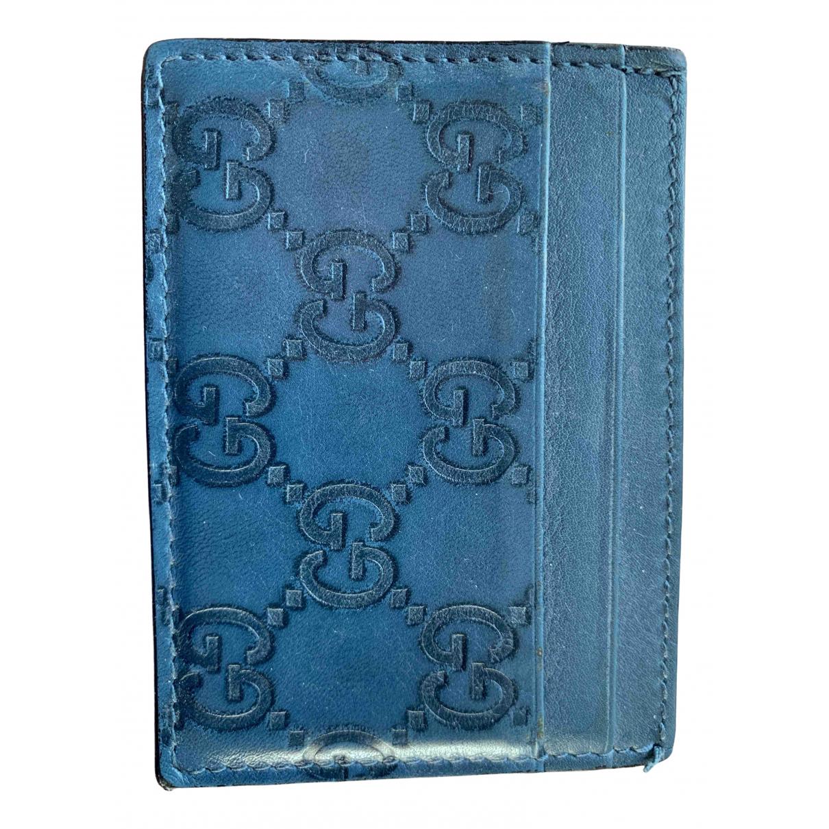 Gucci - Petite maroquinerie   pour homme en cuir - bleu