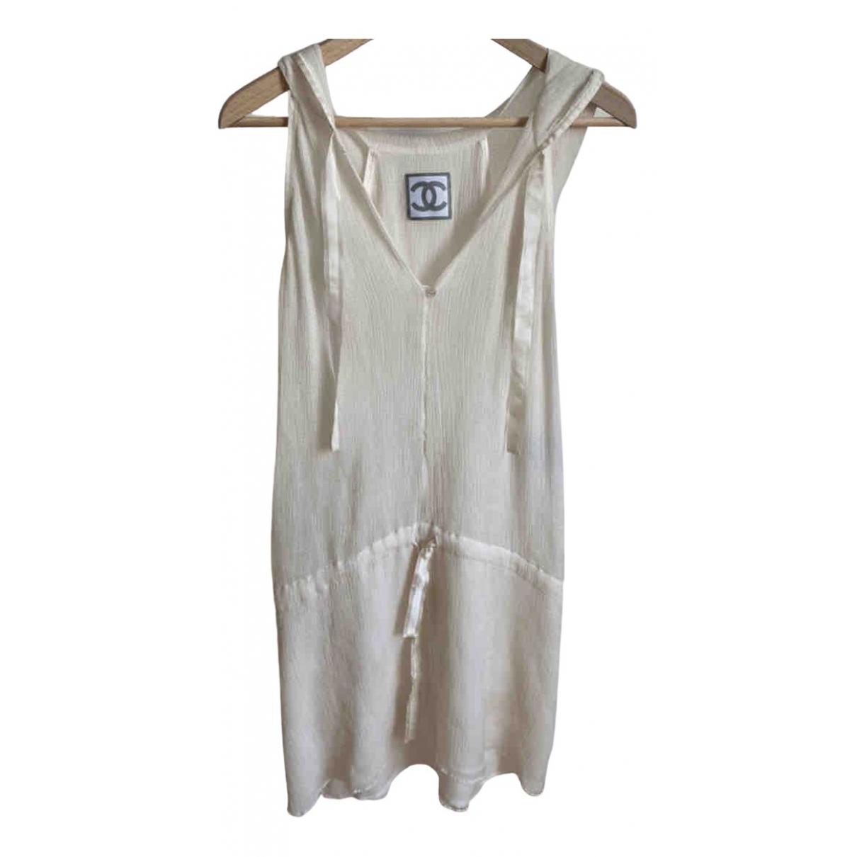 Chanel \N Kleid in  Ecru Seide