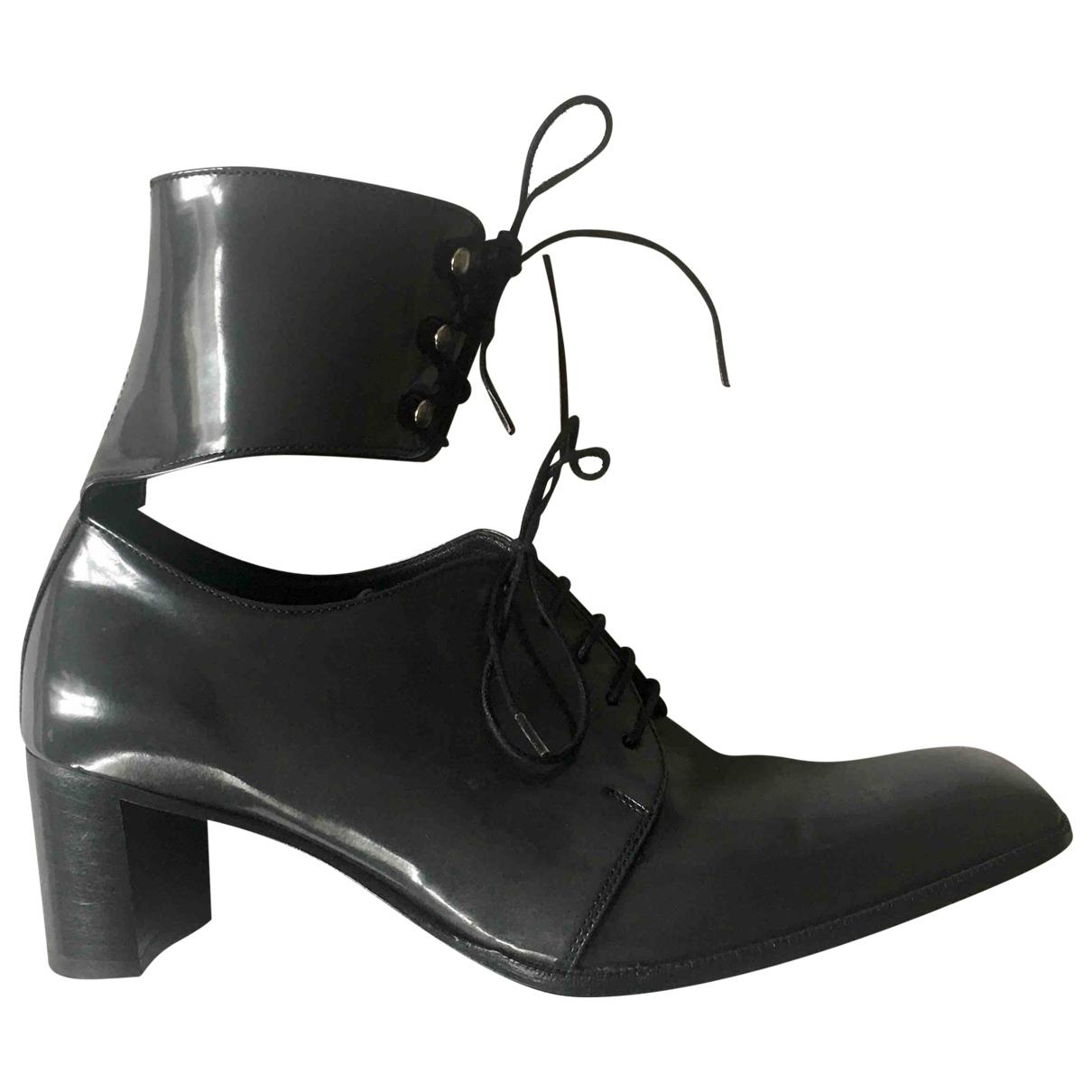 Heschung - Boots   pour femme en cuir verni - gris