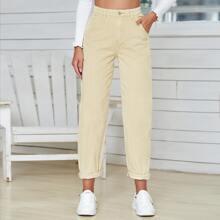 Pantalones de pana de cintura alta