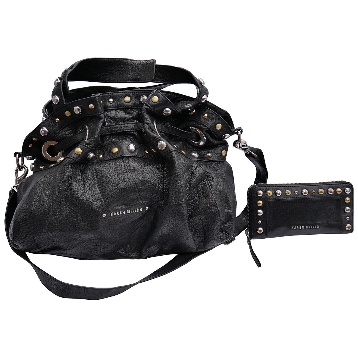Karen Millen \N Handtasche in  Schwarz Leder