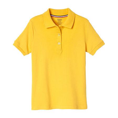 French Toast Girls Plus Short Sleeve Stretch Polo Shirt, 14-16 Plus , Yellow
