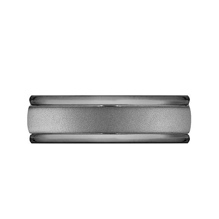 Mens 7mm Tantalum Dark Grey Powder Coated Wedding Band, 9 1/2 , No Color Family
