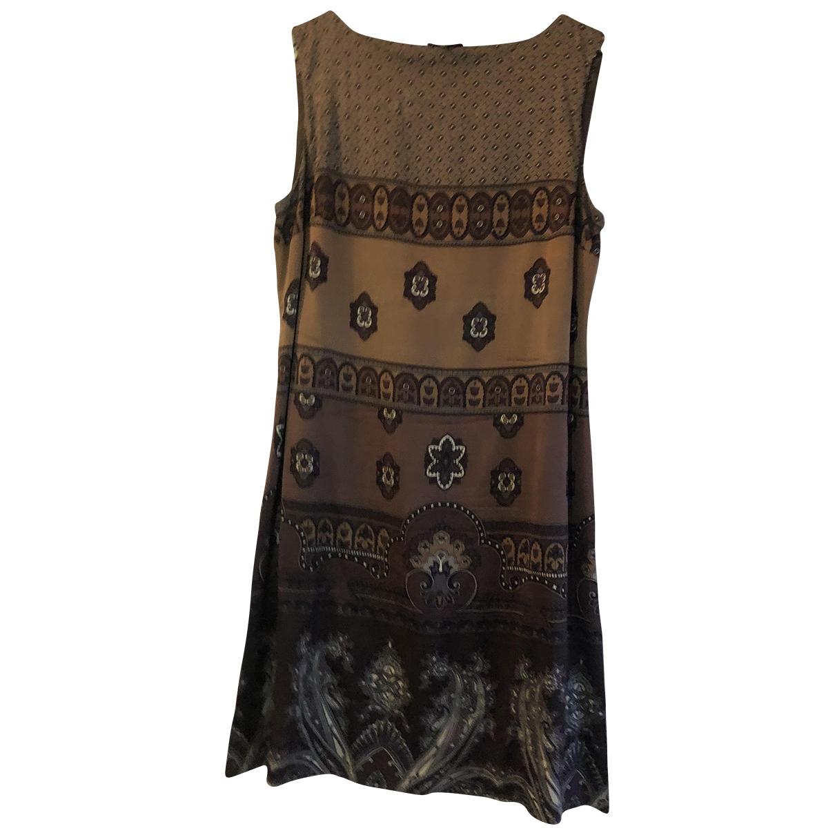 Maliparmi \N Brown Silk dress for Women 42 IT