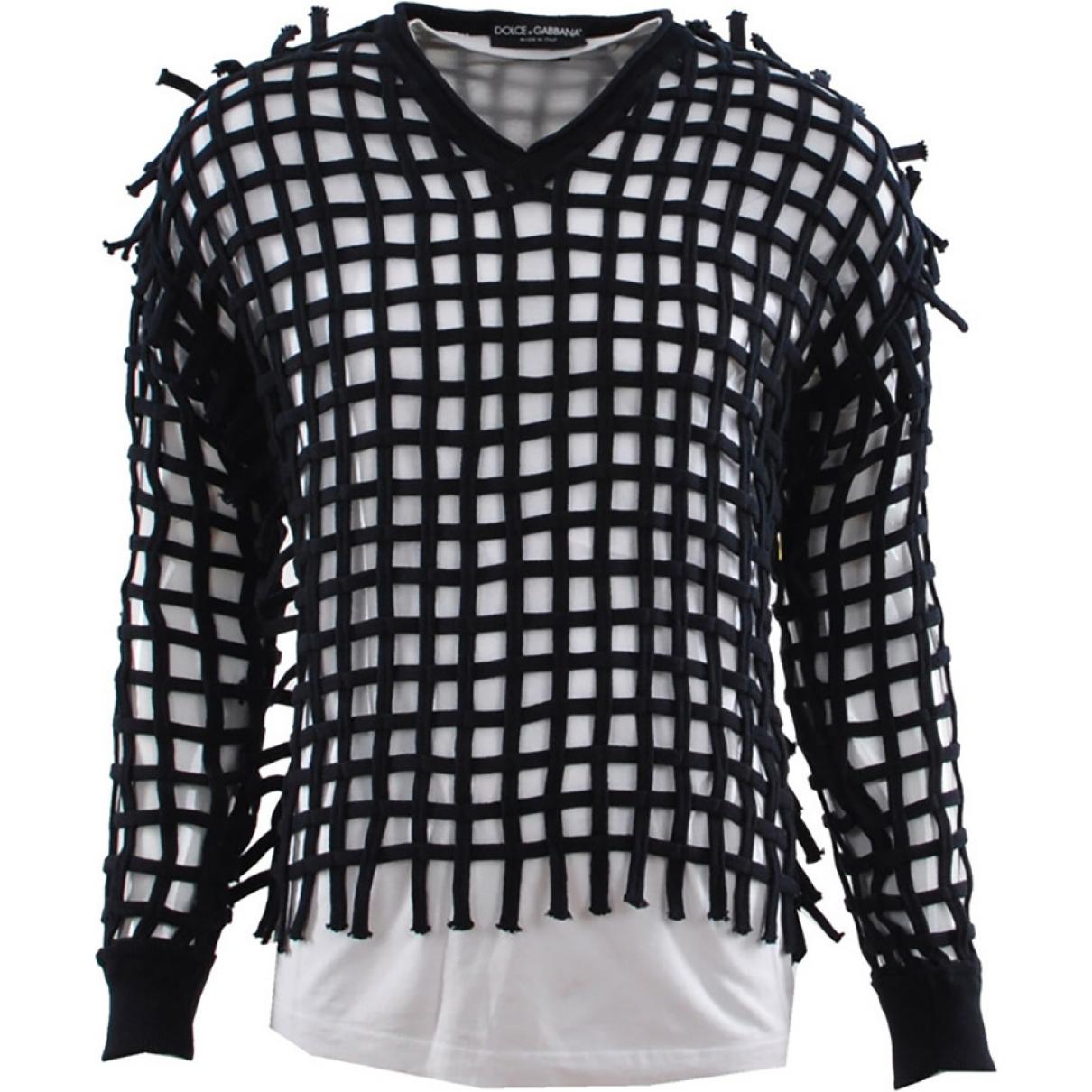 Dolce & Gabbana - Pulls.Gilets.Sweats   pour homme en coton - marine