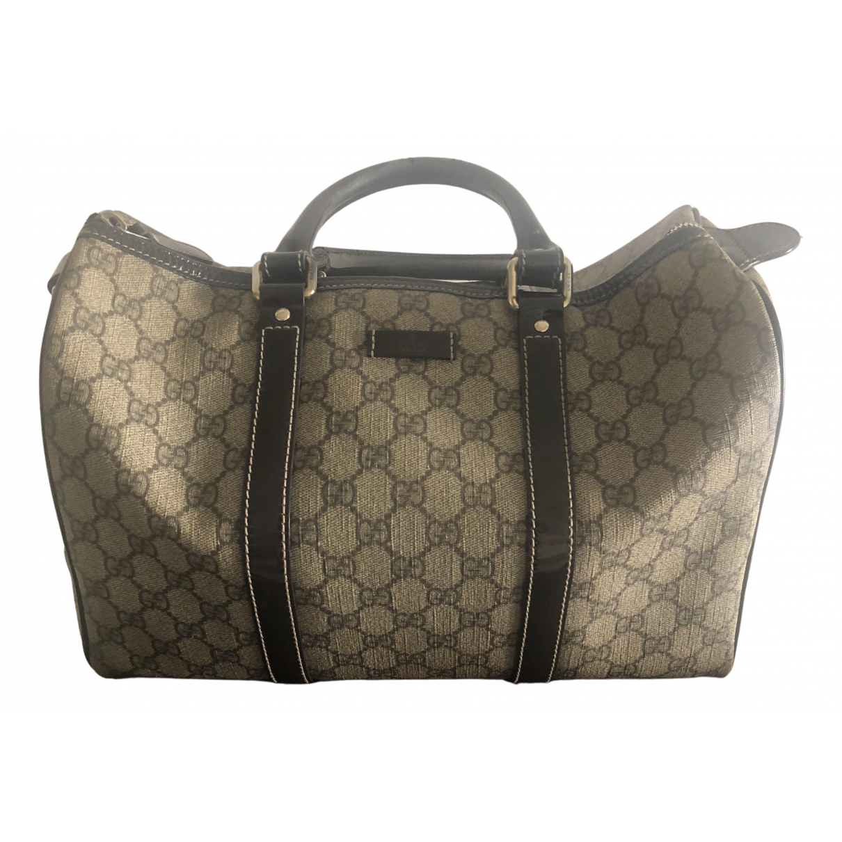 Gucci Boston Handtasche in  Beige Leinen