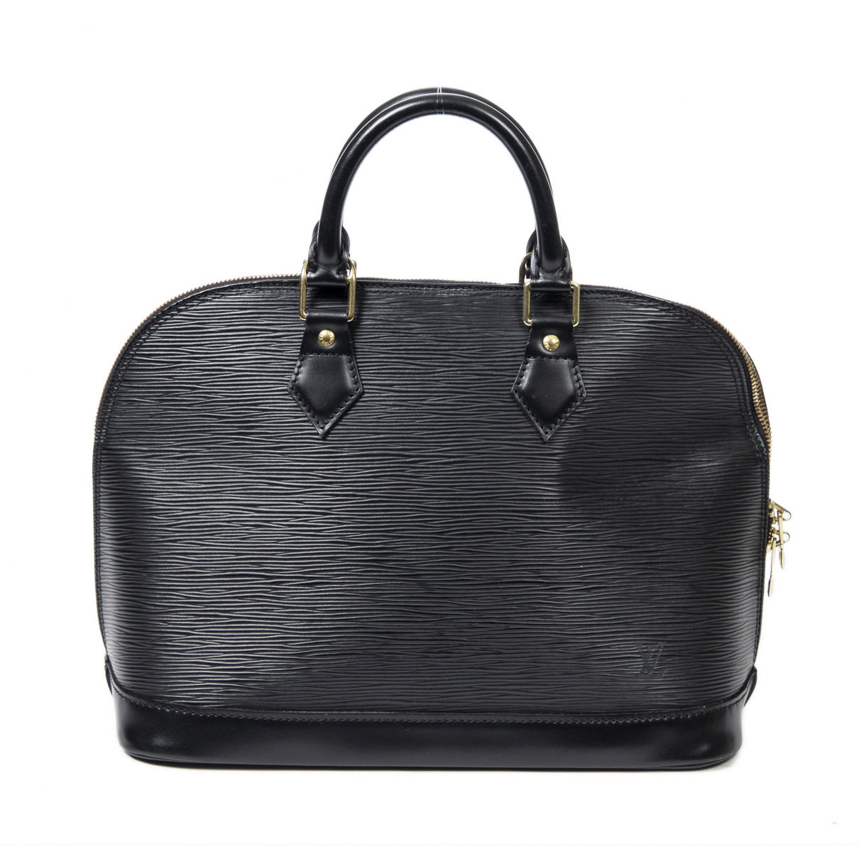 Louis Vuitton - Sac a main Alma pour femme en cuir - noir