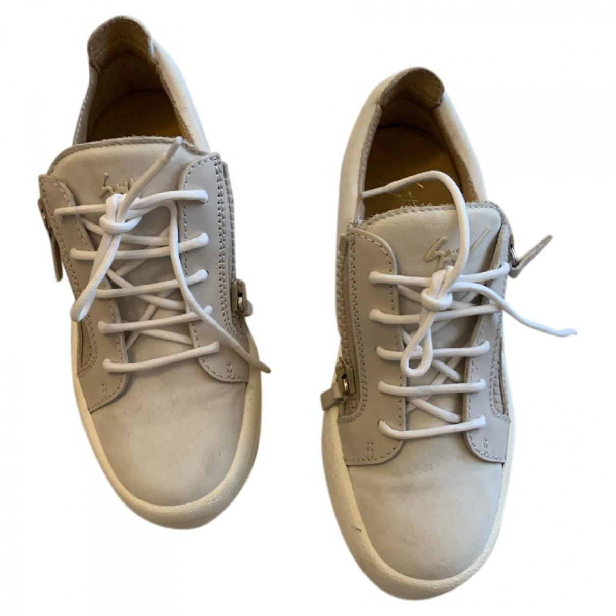 Giuseppe Zanotti - Baskets Nicki pour femme en cuir - gris