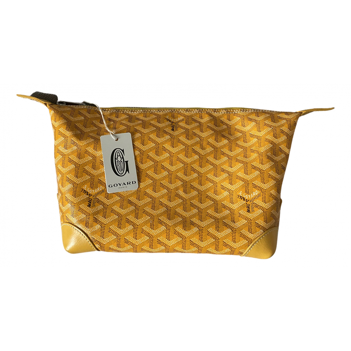 Goyard - Petite maroquinerie   pour homme en toile - jaune