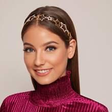 Rhinestone Decor Star Decor Headband