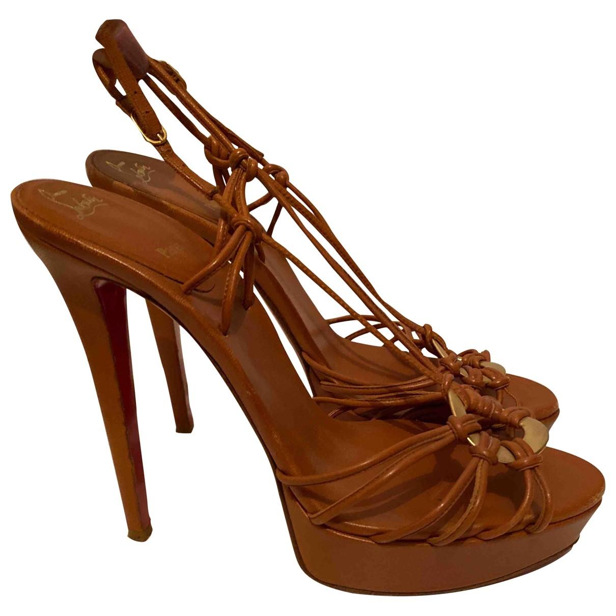 Christian Louboutin \N Camel Leather Sandals for Women 39 EU