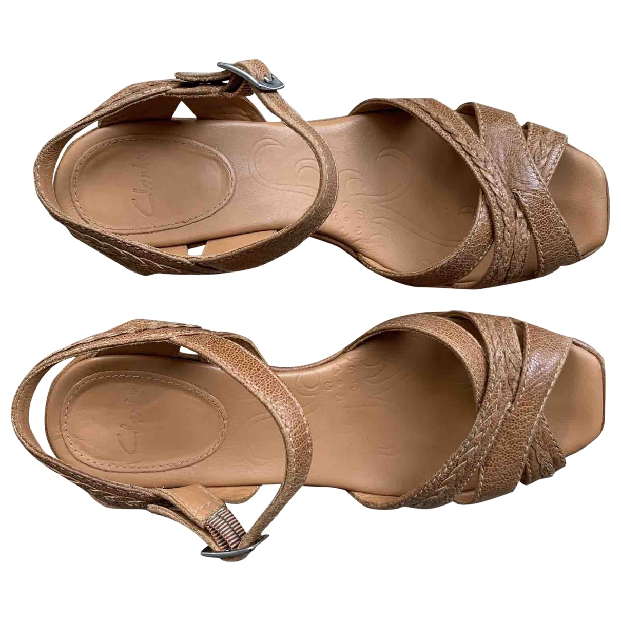 Clarks \N Brown Leather Heels for Women 3 UK