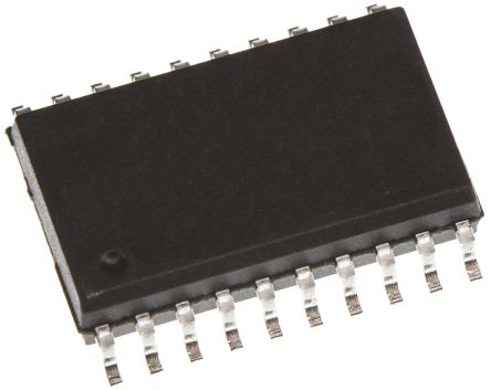 Texas Instruments SN74LVC2244ADW Octal-Channel Buffer & Line Driver, 3-State, 20-Pin SOIC (10)