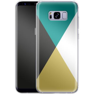 Samsung Galaxy S8 Plus Silikon Handyhuelle - Four Triangles von caseable Designs