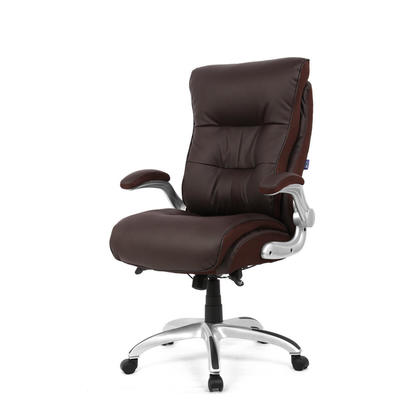 Big and Tall Executive Chair With Flip Armrest , Capacity Support 400 lb - Moustache@ - Brown