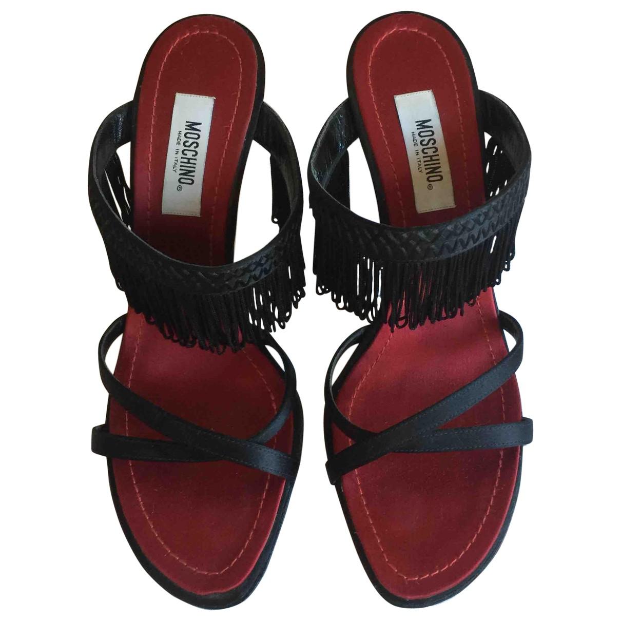 Moschino \N Sandalen in  Schwarz Leder