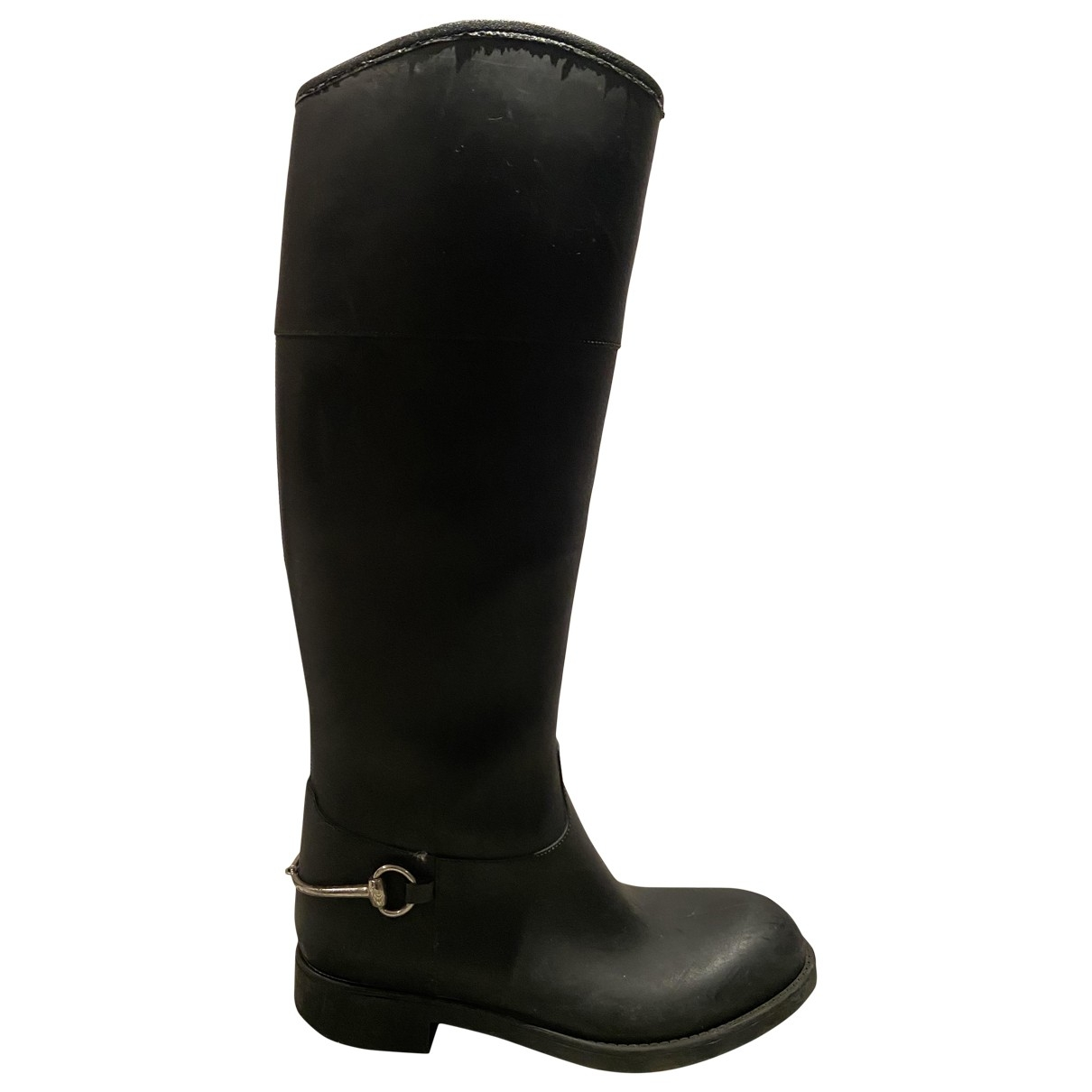 Gucci \N Black Rubber Boots for Women 37 EU
