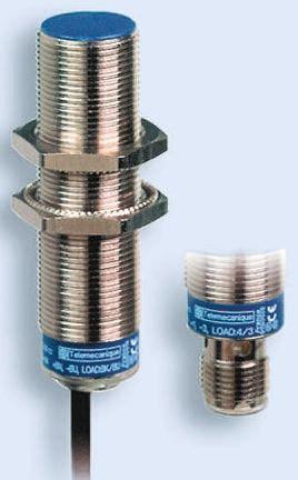 Telemecanique Sensors M18 x 1 Inductive Sensor - Barrel, PNP-NC Output, 8 mm Detection, IP69K, Cable Terminal